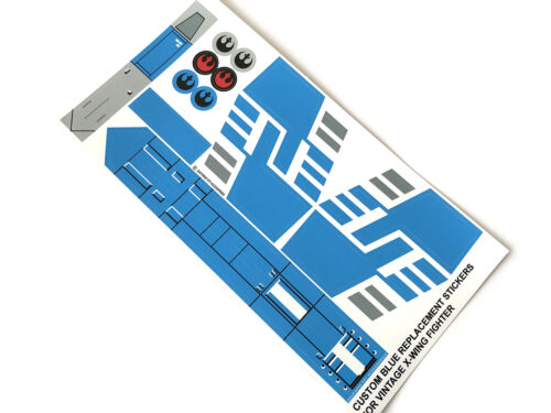 XWING STICKERS for 1978-82 STAR WARS VINTAGE X-WING FIGHTER CUSTOM COLORS