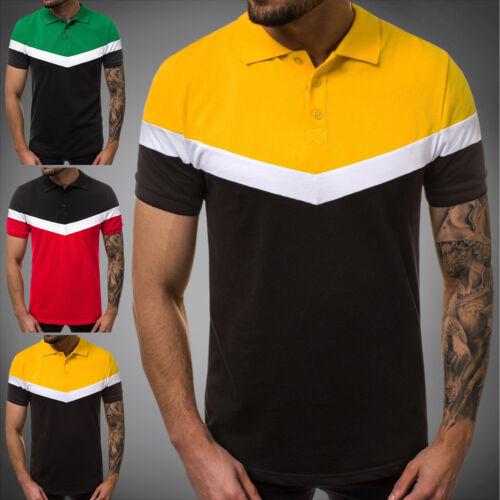Poloshirt Polohemd Polo T-Shirt Kurzarm Slim Fit OZONEE O//1501 Herren