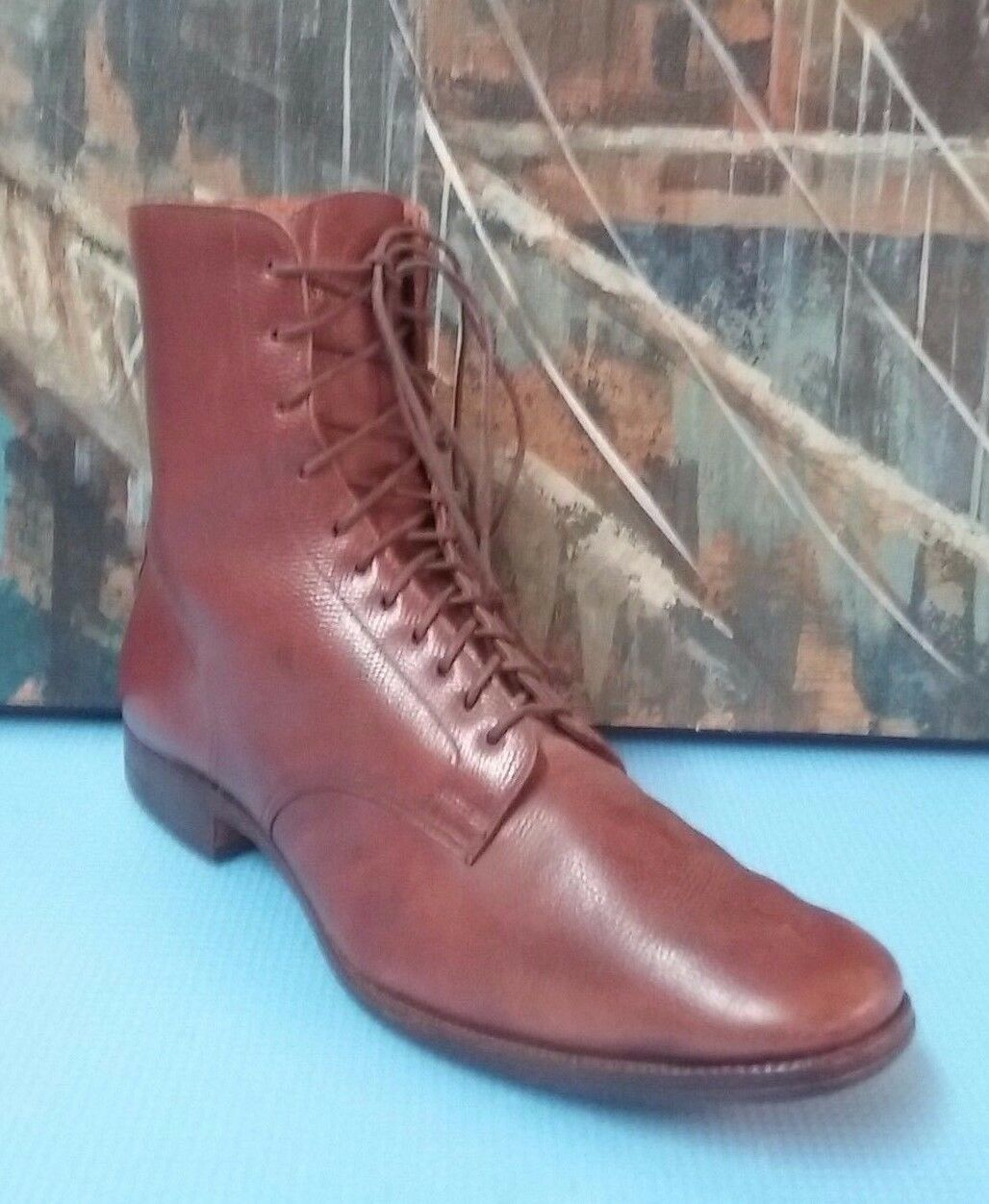 Womens Miller Leather Lace-Up Ankle Boots shoes 6.5 D