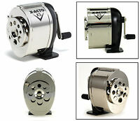 Pencil Sharpener Manual Table Wall Mount Chrome School Hand Crank Desktop