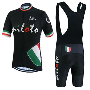 Men s Cycling Clothing Kit Bike Jersey and Padded (Bib) Shorts Team ... 8c8986ccc