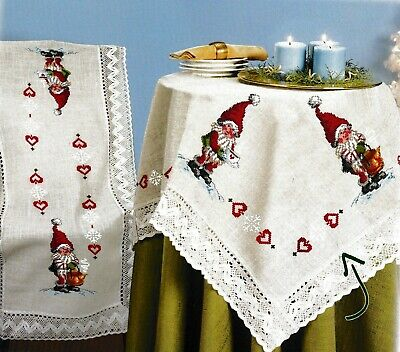 "/""Squirrel/"" Tablecloth Kit for Embroidery Duftin 8044"