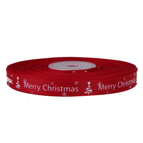 25 yards//Lot Christmas Ribbon Printing Ribbon DIY Craft Gifts Xmas Party 2017