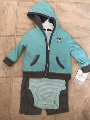Carters  Infant  Boys 2 Piece Shorts Set  Size NB 3M  6M 9M 18M NWT Dog Blues