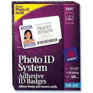 Details about Visitor Photo ID Badge - Avery Replacement 2940 / 2941