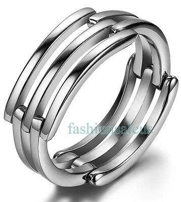 Stainless Steel Infinity Love Promise Ring Women's Engagement Bands Necklaces