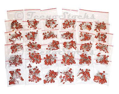 1200x Condensatori Ceramici Disco Kit 30 VALORI 40pcs/val Ceramic Disc Capacitor