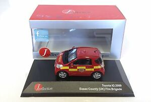 Toyota-IQ-Essex-UK-pompier-2009-1-43-IXO-JCL-VOITURE-DIECAST-MODEL-JC169