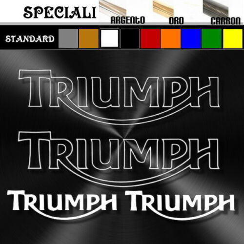 set adesivi sticker moto TRIUMPH decal prespaziato 19,5cm 9,5 cm