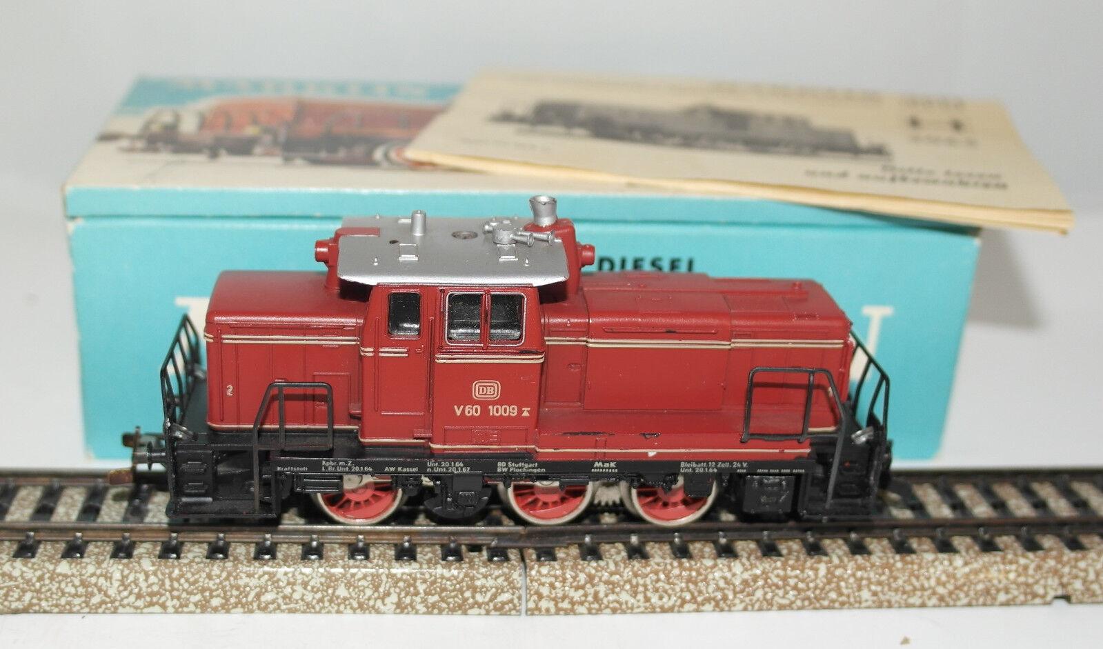 MARKLIN H0 [3065 loco diesel DB BR V 60 1009 molto bella in eller.Fält 1964