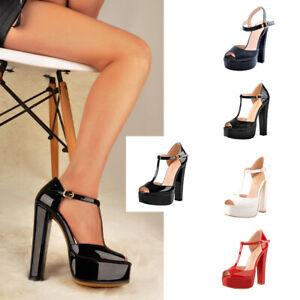 Onlymaker-Women-Ankle-Strap-Peep-Toe-Platform-Block-High-Heel-Square-Toe-Sandals