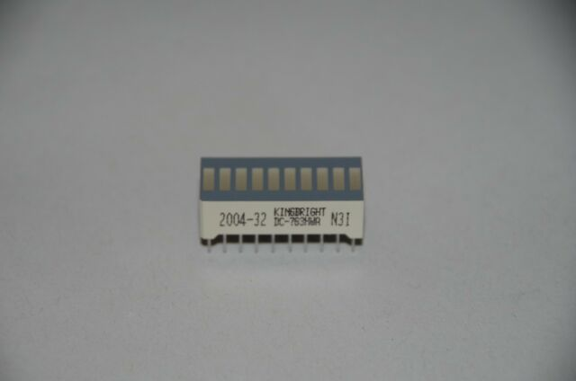 2V 39mm Liteon gem rote Bargraph-Anzeige LTG9501H 15 LEDs 4 Stück Anode