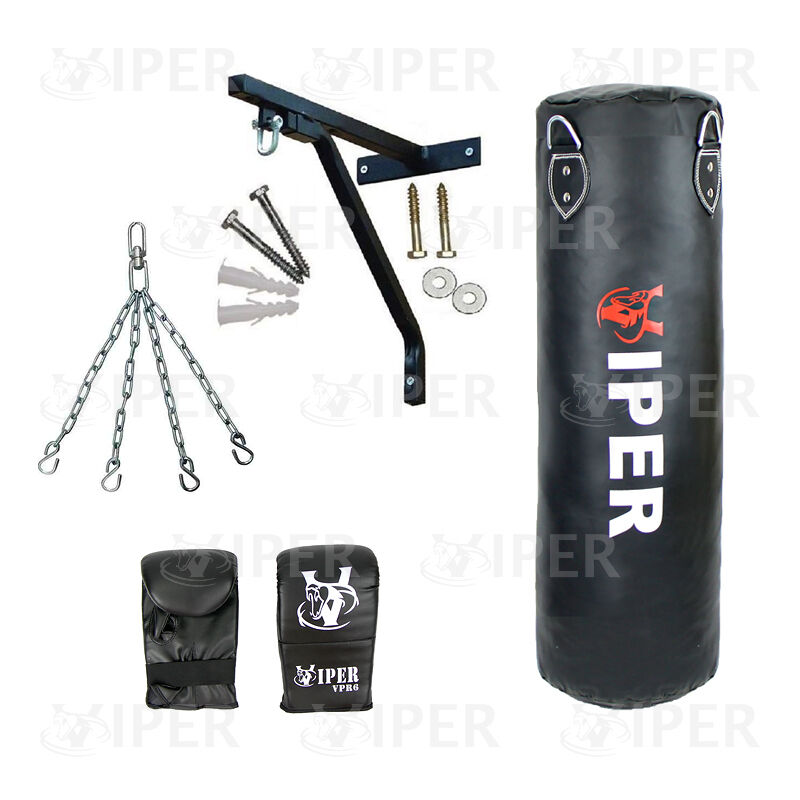 5ft Pugilato Punch Bag Set Guanti STAFFA CATENE riempito MMA Arti Marziali Brand