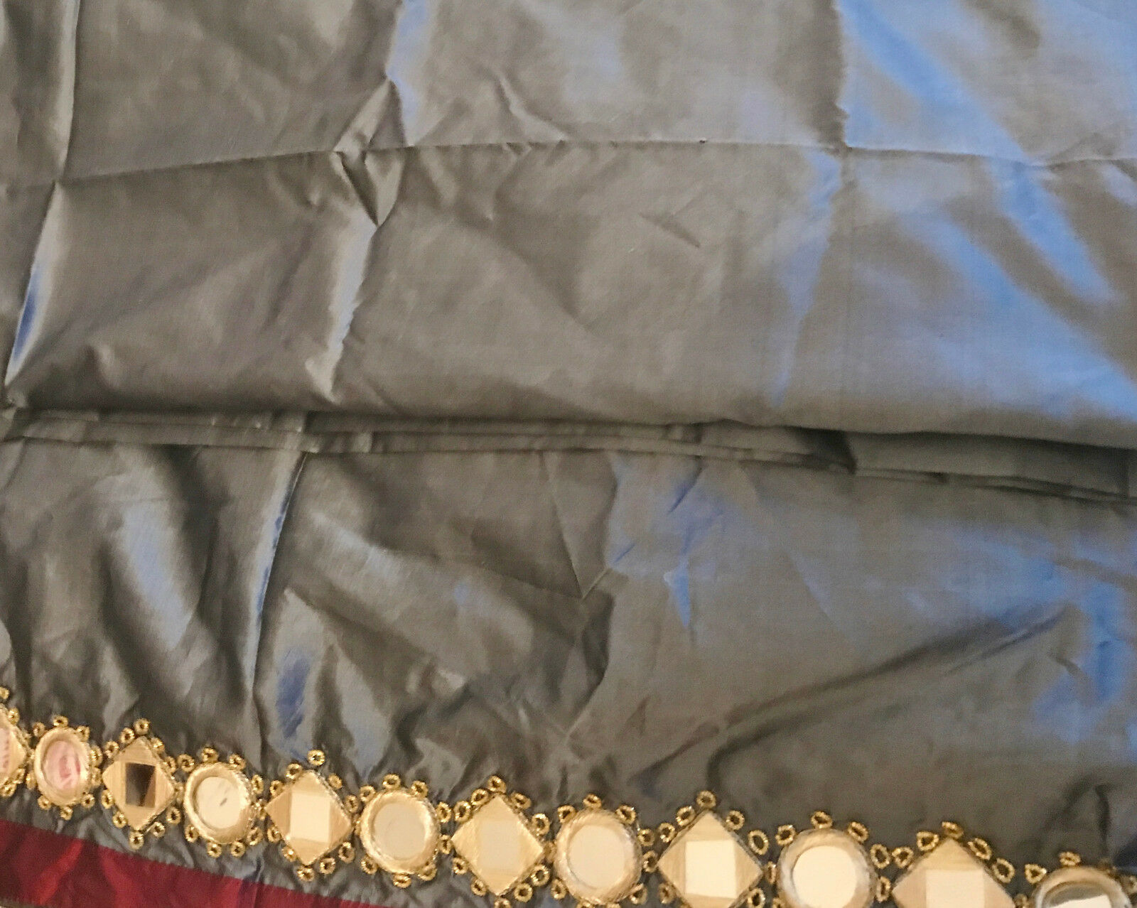 Indian Tribal Veil with real mirror work work work for Tribal Fusion Belly Dance, Dupatta d881f4
