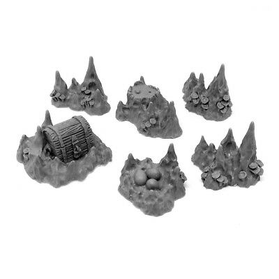Grabblecast GC/_0060 Volcanoes Set Wargames Terrain Frostgrave DnD 2.0