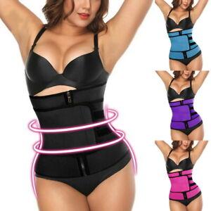 Women-Waist-Trainer-Cincher-Body-Shaper-Belt-Corset-Tummy-Trimmer-Latex-Sauna-US