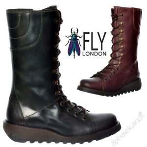 bottines bleues lacet fly london