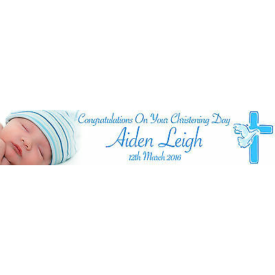 PERSONALISED CHRISTENING BANNERS WITH PHOTO