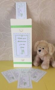 Baby-Shower-Prediction-Cards-Post-Box-amp-10-Free-Cards-Unisex-Keepsake-Game