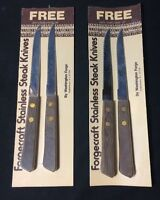 4 Washington Forge Forgecraft Stainless Steak Knives Serrated Usa
