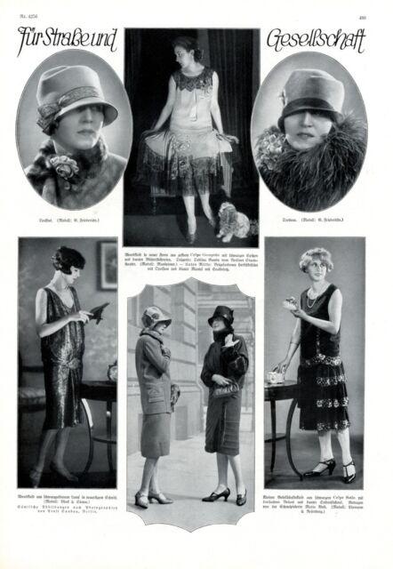 20er Jahre Mode Gesellschaft 1926 XL Seite mit 6 Abb. Toblina Gandy Maria West