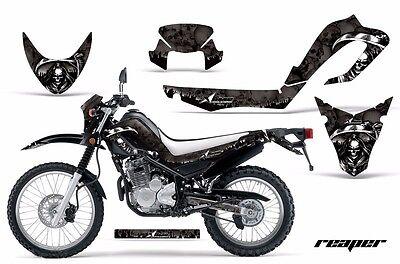 MX Decal Graphic Kit Dirt Bike Wrap For Kawasaki Z125 PRO 2017-2018 REAPER WHITE