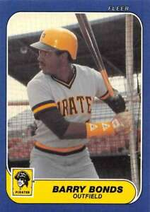 1986 Fleer Update #U-14 Barry Bonds RC Rookie Pirates