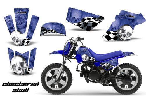 Dirt Bike Graphics Kit MX Decal Wrap For Yamaha PW50 PW 50 1990-2018 CHECKER WU