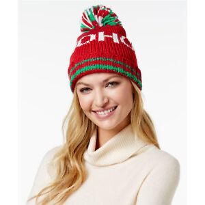 97b531e6c55 New Christmas Beanie STEVE MADDEN Santa s Ho Ho Cozy Knit Hat Womens ...