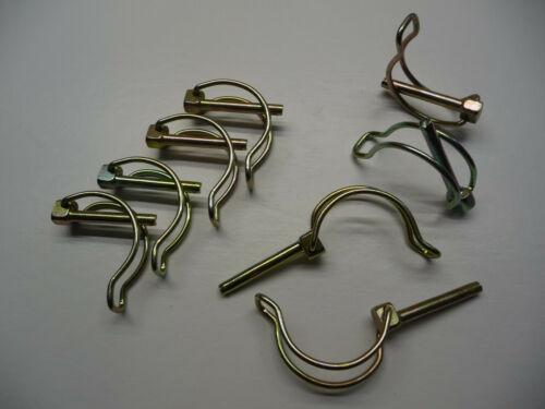 GOUPILLE CLIP TUBE 6X45 ZINGUE lot de 8 pièces clips 6mm lynch broches