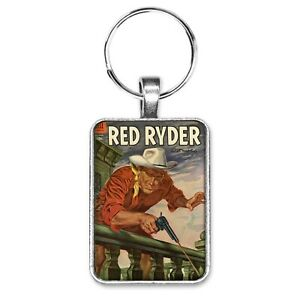 Red-Ryder-Comics-136-Cover-Key-Ring-or-Necklace-Vintage-Cowboy-Western-Comic