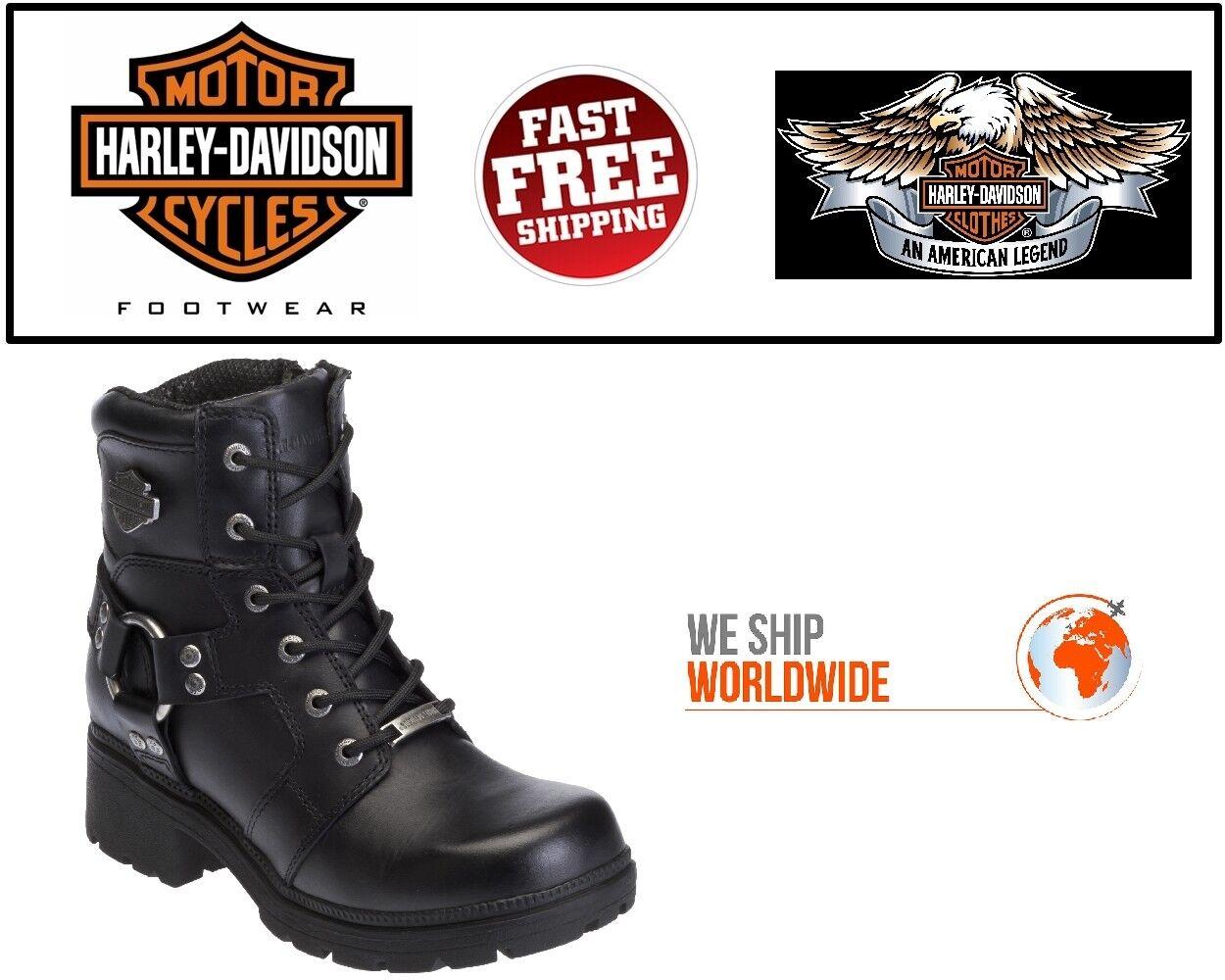 Harley-Davidson® Women's 5.5  D83775 Jocelyn Black Leather Motorcycle Boots