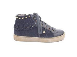 nuovo di zecca 898ce d0773 Dettagli su Twin set bambina, HA78C1, scarpe pelle maninata piombo sneakers  A7102