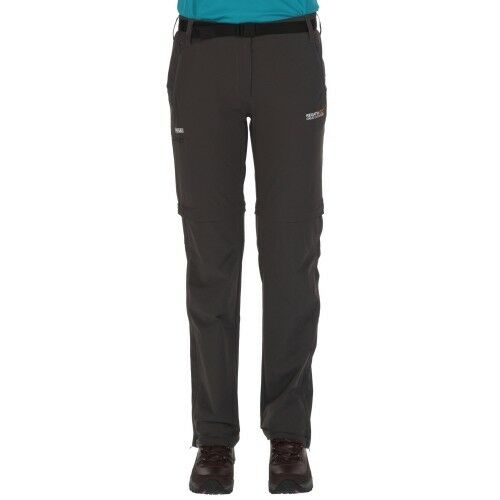 Regatta Wms Xert Stretch Zip-Off Trouser Trouser Trouser II seal grau Wanderhose Damenhose grau  | Roman  218556