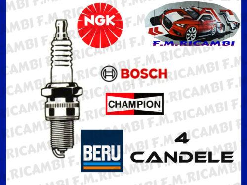 4 CANDELE ACCENSIONE OPEL MERIVA 1.6 64Kw//87Cv 1.6 16V 74Kw//100Cv