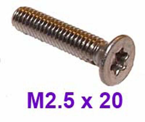 M2,5 X 20 Acero Inoxidable de cabeza avellanada Torx 2,5 Mm X 20 Mm tornillos Torx X20