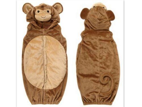 GYMBOREE Boys Girls Monkey Polyester Hooded Halloween Costume 6-12 Month NWT