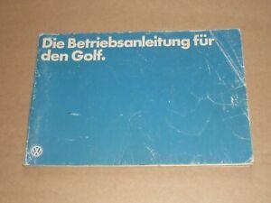 VW Golf I 1978 Betriebsanleitung Bedienungsanleitung Handbuch