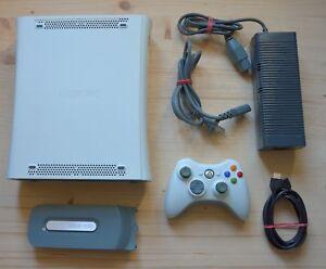 Xb360-Microsoft-XBOX-360-console-con-ORIGI-Controller-buono-stato