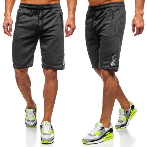 Kurzhose Shorts Sporthose Trainings Kurze Bermudas Slim Fit Herren BOLF Motiv