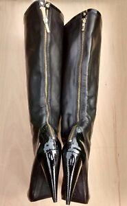 Stivali 8 oro al Iconic Geiger Kurt ginocchio Zip 41 posteriore Voltaire Bnwob SYTFwTPq5