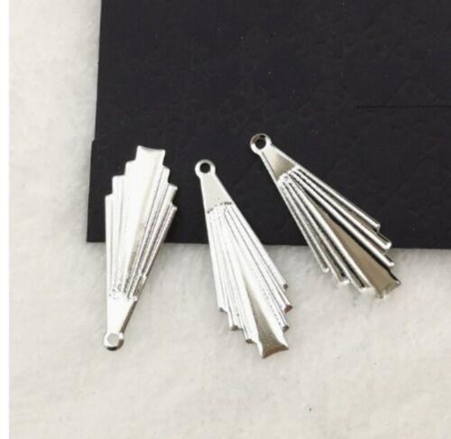 50pcs Charm Metal Filigree Flowers Earring Connector Findings Jewelry Making DIY