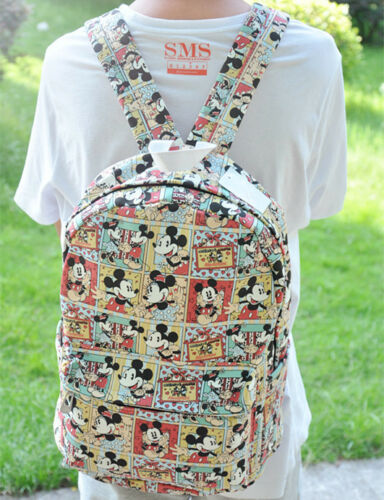 """cute red trousers mickey 15/"""" backpack shoulder bag laptop bags new"""