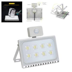 50W-LED-Fluter-mit-Bewegungsmelder-UltraDuenn-Aussen-Scheinwerfer-Kaltweiss-IP67