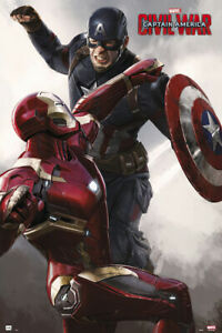CAPITAN AMERICA 3: GUERRA CIVILE-MOVIE POSTER (IRON MAN VS. CAPITAN America)