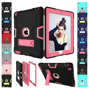 Shockproof-Heavy-Duty-Rubber-With-Hard-Stand-Case-Cover-For-iPad-Air-5-6th-Mini