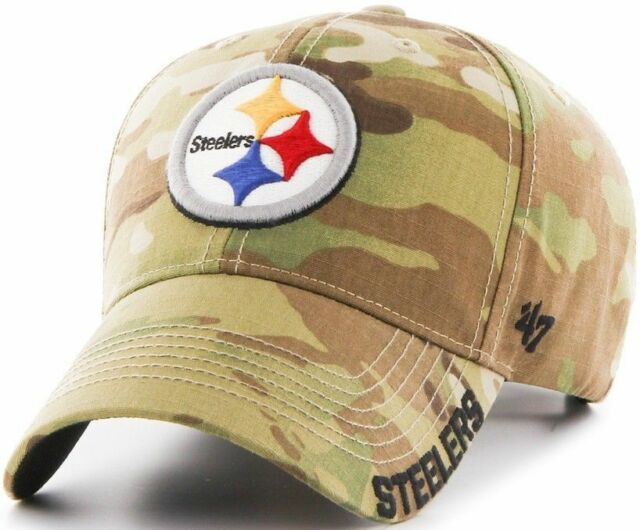 d7002219 Pittsburgh Steelers Mens Adjustable Camo Hat Multicam Myers Cap by '47 BRAND