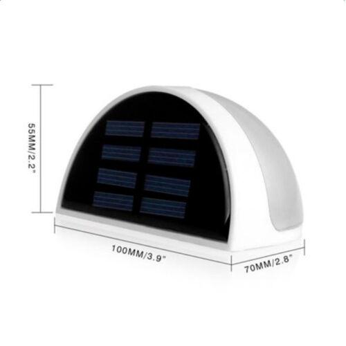Solar Power Light Sensor 6leds Panel Lamp White Outdoor Wall Garden Waterproof