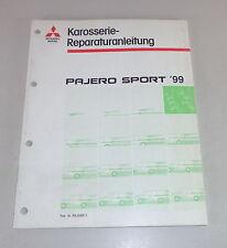 Officina Manuale carrozzeria MITSUBISHI PAJERO SPORT k90 dal 1999