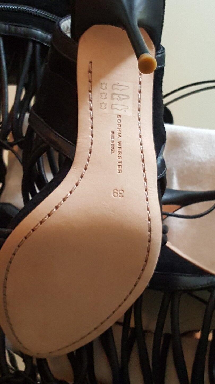 NEW SOPHIA WEBSTER WEBSTER WEBSTER Clementine Knee High Gladiator Lace Up Heel Sandals Sz 39 9 7cf1fa